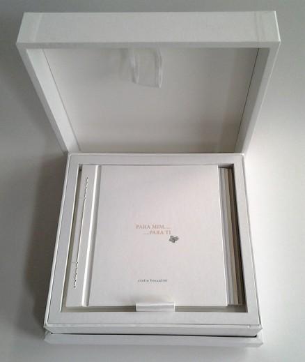 Vista do exemplar dentro da caixa de música.
